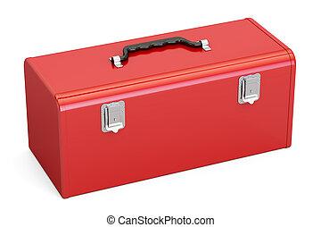 Red Toolbox, 3D rendering