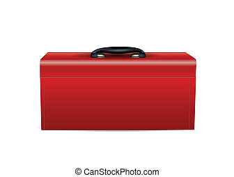 Red Toolbox isolated on white