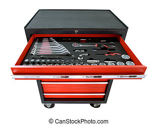toolbox on wheels - red toolbox on wheels with open tray ...
