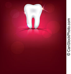 Red tooth background, bright design