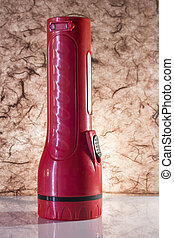 red torch on a background