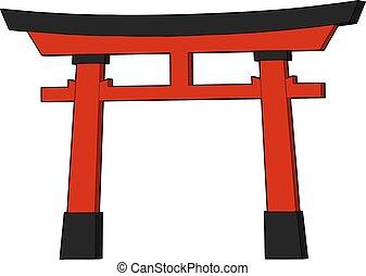red torii doog