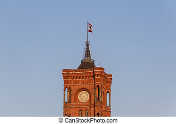 red town hall (rotes Rathaus) Berlin - Top of red town hall...