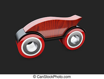 3d car mesh on a black car vehicle 3d blueprint mesh model on a red toy car on a black background 3d illustration malvernweather Images