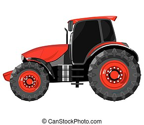 Red tractor side