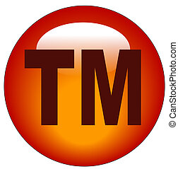 red trademark or tm web button or icon - illustration