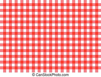 red traditional gingham background - illustration of red ...