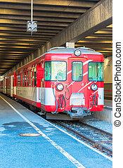 Red train at the Zermatt