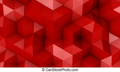 Red triangle polygons background loopable