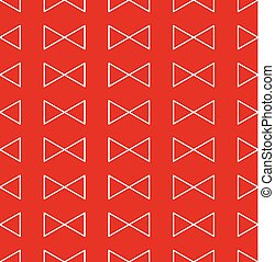 Red Triangle Ribbon Seamless Pattern