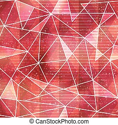 Red triangle seamless pattern with grunge effect