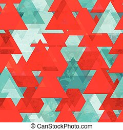 red triangle seamless texture with grunge effect