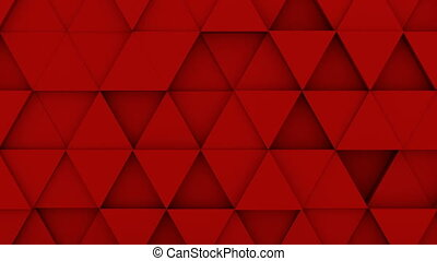 Red triangles extruded background 3D render loopable - Red...