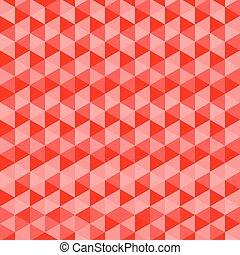 Red Triangles Seamless Vector Background. Abstract Pattern.