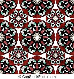 Red tribal vintage seamless pattern grunge texture