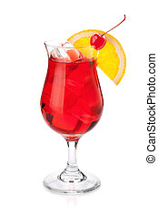 Red tropical cocktail