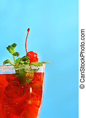 Red tropical drink