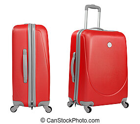 Red trunk isolated with clipping path included
