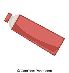 Red tube with cap - Vector illustration of red colored...