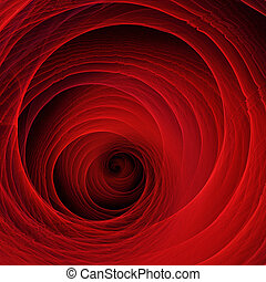 Red Tunnel - Circle shaped red abstract structure