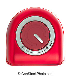 Red Turbo Button on a White Background