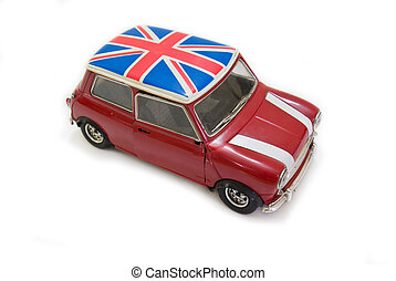 red uk mini - This is a red Uk Mini car