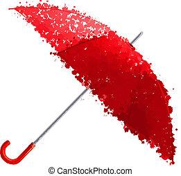 red umbrella vector illustration