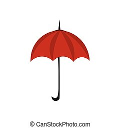 Red umbrella, vector or color illustration.