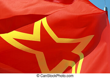 red USSR flag close-up