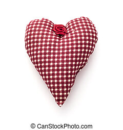 Red valentine heart of fabric