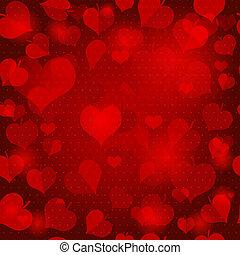 Red valentine seamless pattern