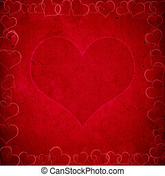 red valentine's background with hearts