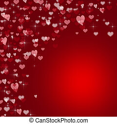 Red valentines day background