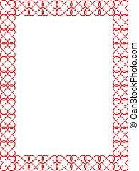 red Valentines Day border