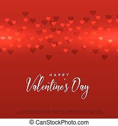 red valentine's day hearts background design