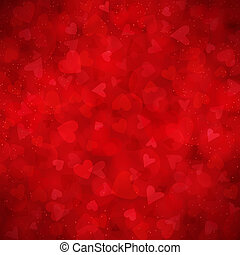 Red vector background for Valentines day