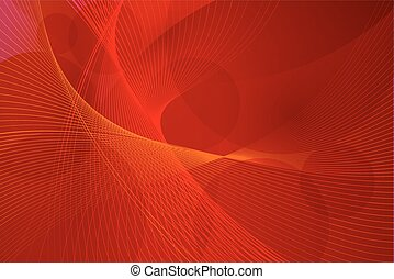 red vector background wave lines