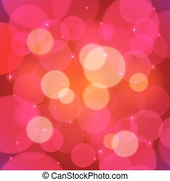 Red vector bokeh effect abstract background