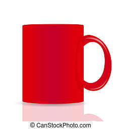 red vector cup isolated on white background