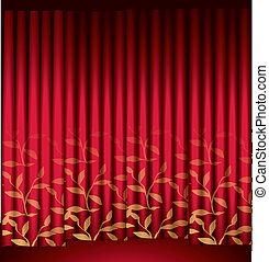 Red Vector Curtain