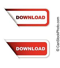 red vector download, sticker download, banner download