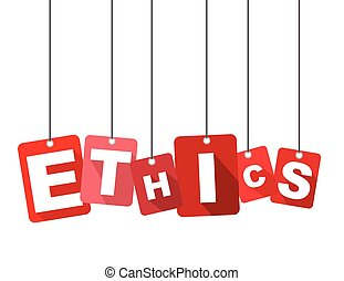 Red vector flat design background ethics. It is well adapted...