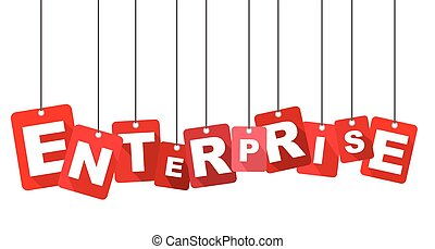 Red vector flat design background enterprise. It is well adapted for web design.