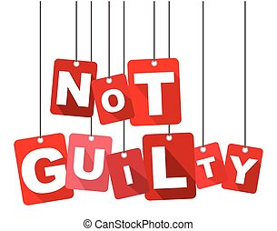 Red vector flat design background not guilty. It is well adapted for web design.