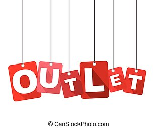 Red vector flat design background outlet. It is well adapted for web design.