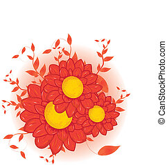 red Vector flowers