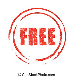 Red vector grunge stamp FREE