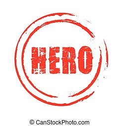Red vector grunge stamp HERO