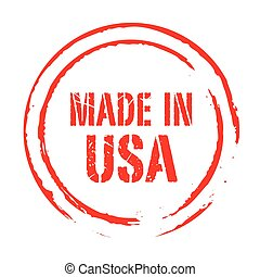 Red vector grunge stamp MADE IN USA