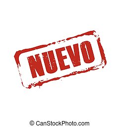 Red vector grunge stamp NUEVO